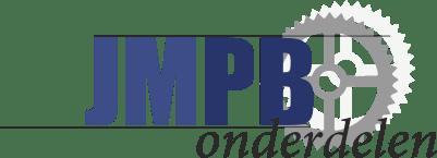 Piaggio Logo sticker Blue/Chrome Hex