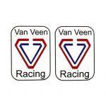 """Stickerset """"Van Veen Racing"""" Rectangle"""