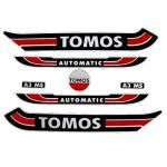 Stickerset Tomos A3 Old Model Red/Black