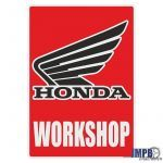 Workshop Sticker Honda English