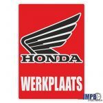Werkplaats Sticker Honda Dutch