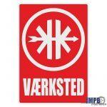 Vaerksted Sticker Kreidler Danish