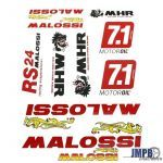 Stickerset Malossi Red 10 pieces