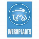 Werkplaats Sticker Tomos Blue Dutch