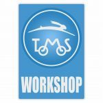Workshop Sticker Tomos Blue English