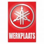 Werkplaats Sticker Yamaha Dutch