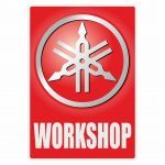 Workshop Sticker Yamaha English