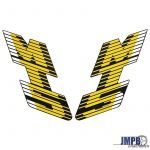 Stickerset Tank Honda MT5 88/89 Yellow/Black