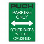 "Sticker ""Puch Parking Only"" Green"