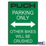 """Sticker """"Puch Parking Only"""" Green"""