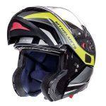 Helmet Systeem MT Atom Tarmac SV Black/Fluor Yellow