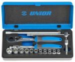UNIOR BI Socket set 1/4-188 BI-16pcs