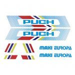 Stickerset Puch Maxi Europa White