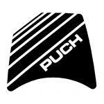 Sticker Headlight spoiler Puch Maxi Black