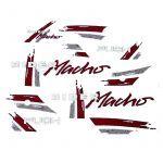 Stickerset Puch Rider Macho '91 Red