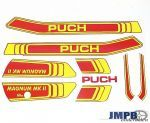 Stickerset Puch Magnum MKII Red/Yellow