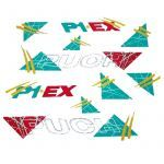 Stickerset Puch P1 EX Green/Yellow/Red