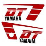 Stickerset Yamaha DT50MX Red/White