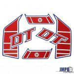 Tank stickers Yamaha DT Remake Red/Blue