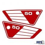 Side panel Stickerset Red/White Yamaha FS1