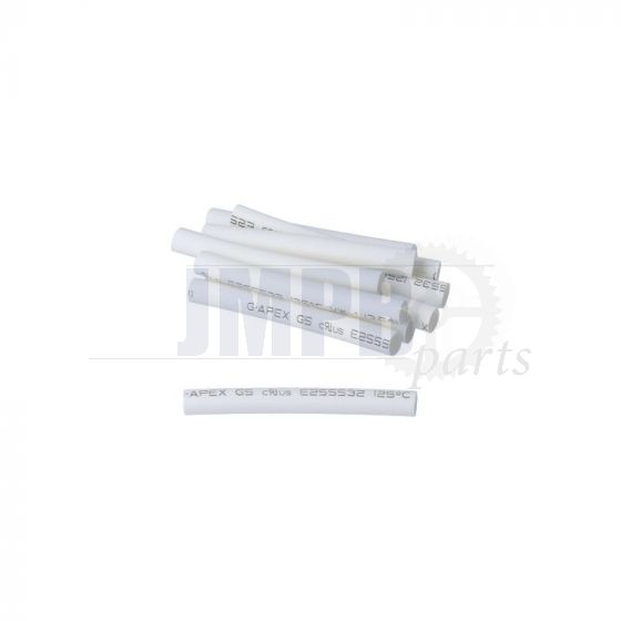 Shrink tubes 3.5 X 40MM 10 Pieces White